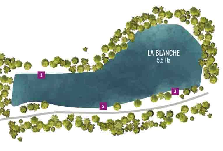 Carte plan eau La Blanche